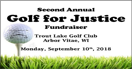 Golf for Justice 2018 Save the Date